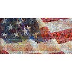 Grunge United State Of Art Flag Twin Hearts 3D Greeting Card (8x4) Front