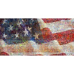 Grunge United State Of Art Flag YOU ARE INVITED 3D Greeting Card (8x4)