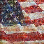 Grunge United State Of Art Flag ENGAGED 3D Greeting Card (8x4) Inside