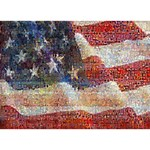 Grunge United State Of Art Flag WORK HARD 3D Greeting Card (7x5) Front