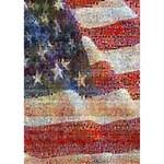Grunge United State Of Art Flag WORK HARD 3D Greeting Card (7x5) Inside