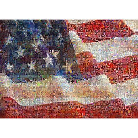 Grunge United State Of Art Flag Birthday Cake 3D Greeting Card (7x5)