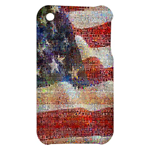 Grunge United State Of Art Flag Apple iPhone 3G/3GS Hardshell Case
