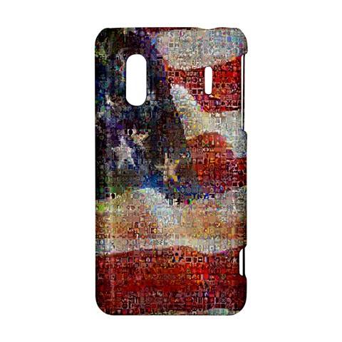 Grunge United State Of Art Flag HTC Evo Design 4G/ Hero S Hardshell Case