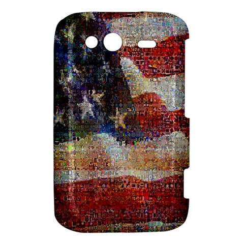 Grunge United State Of Art Flag HTC Wildfire S A510e Hardshell Case