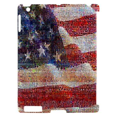 Grunge United State Of Art Flag Apple iPad 2 Hardshell Case (Compatible with Smart Cover)