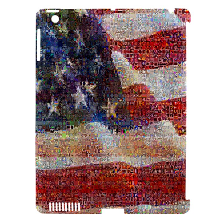 Grunge United State Of Art Flag Apple iPad 3/4 Hardshell Case (Compatible with Smart Cover)