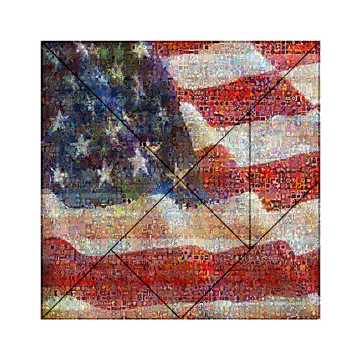 Grunge United State Of Art Flag Acrylic Tangram Puzzle (6  x 6 )