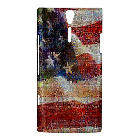 Grunge United State Of Art Flag Sony Xperia S
