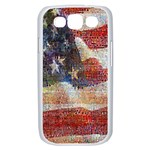 Grunge United State Of Art Flag Samsung Galaxy S III Case (White) Front