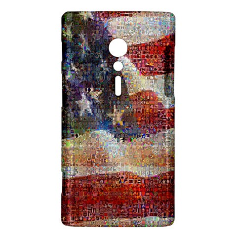 Grunge United State Of Art Flag Sony Xperia ion