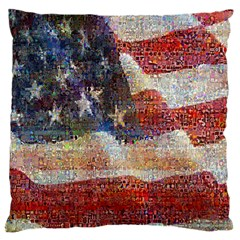 Grunge United State Of Art Flag Large Cushion Case (Two Sides)