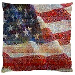 Grunge United State Of Art Flag Large Cushion Case (Two Sides) Front
