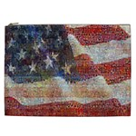 Grunge United State Of Art Flag Cosmetic Bag (XXL)  Front