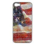 Grunge United State Of Art Flag Apple iPhone 5 Case (Silver) Front