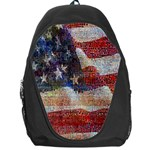 Grunge United State Of Art Flag Backpack Bag Front