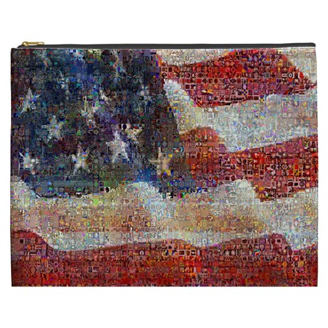 Grunge United State Of Art Flag Cosmetic Bag (XXXL)