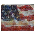 Grunge United State Of Art Flag Cosmetic Bag (XXXL)  Front