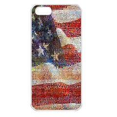 Grunge United State Of Art Flag Apple iPhone 5 Seamless Case (White)
