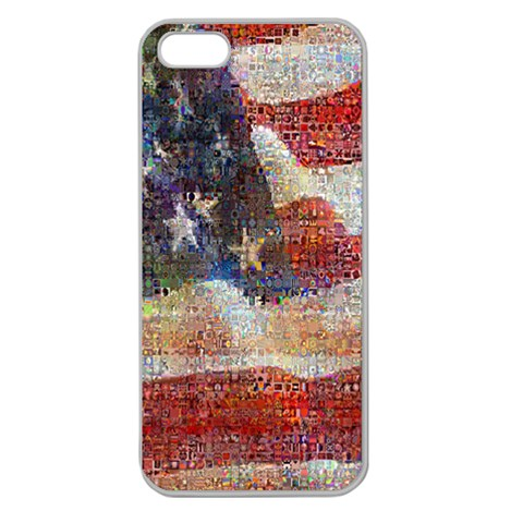 Grunge United State Of Art Flag Apple Seamless iPhone 5 Case (Clear)