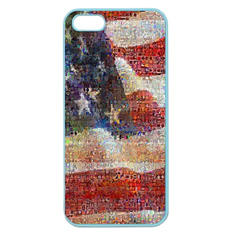 Grunge United State Of Art Flag Apple Seamless iPhone 5 Case (Color)