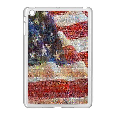 Grunge United State Of Art Flag Apple iPad Mini Case (White)