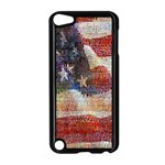 Grunge United State Of Art Flag Apple iPod Touch 5 Case (Black) Front