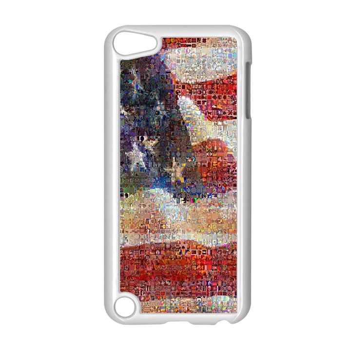 Grunge United State Of Art Flag Apple iPod Touch 5 Case (White)