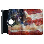 Grunge United State Of Art Flag Apple iPad 2 Flip 360 Case Front