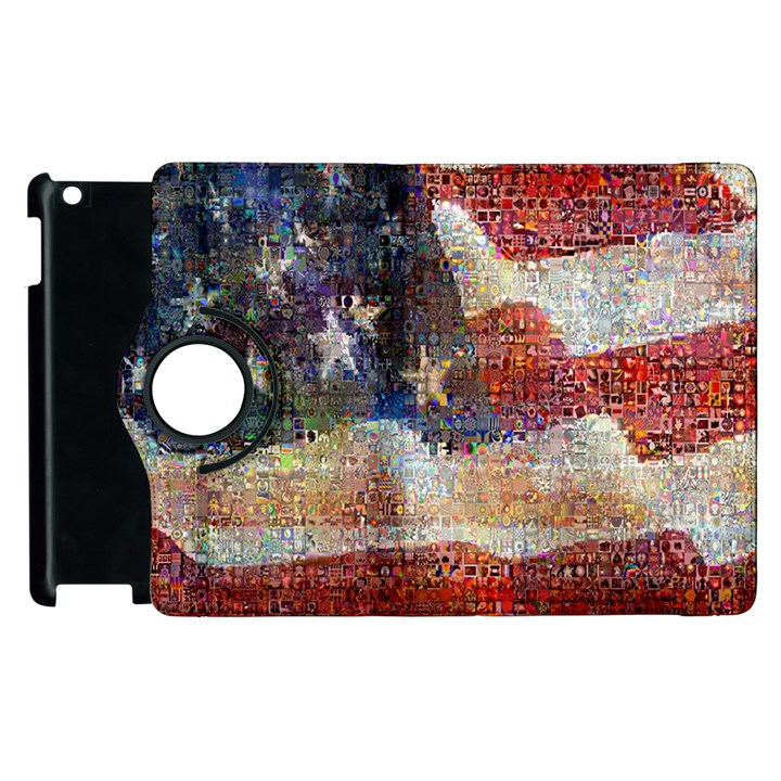 Grunge United State Of Art Flag Apple iPad 2 Flip 360 Case