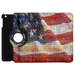 Grunge United State Of Art Flag Apple iPad Mini Flip 360 Case Front