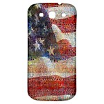 Grunge United State Of Art Flag Samsung Galaxy S3 S III Classic Hardshell Back Case Front