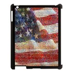 Grunge United State Of Art Flag Apple iPad 3/4 Case (Black) Front