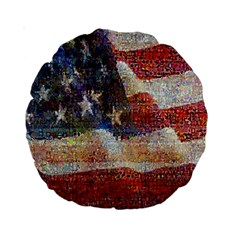 Grunge United State Of Art Flag Standard 15  Premium Round Cushions