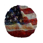 Grunge United State Of Art Flag Standard 15  Premium Round Cushions Back