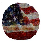 Grunge United State Of Art Flag Large 18  Premium Round Cushions Front