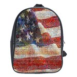 Grunge United State Of Art Flag School Bags (XL)  Front