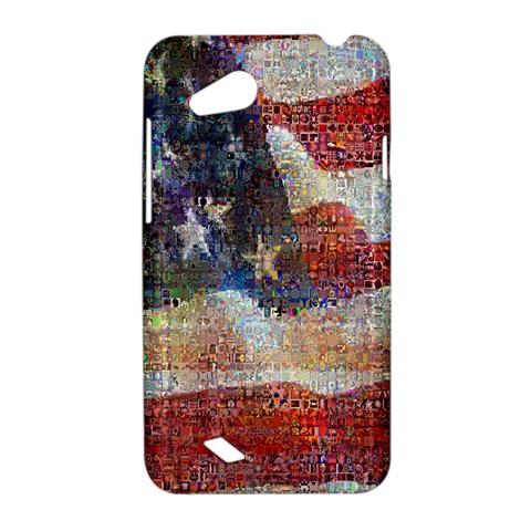 Grunge United State Of Art Flag HTC Desire VC (T328D) Hardshell Case