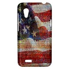 Grunge United State Of Art Flag HTC Desire VT (T328T) Hardshell Case