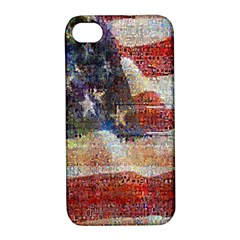Grunge United State Of Art Flag Apple iPhone 4/4S Hardshell Case with Stand