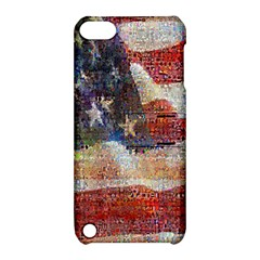 Grunge United State Of Art Flag Apple iPod Touch 5 Hardshell Case with Stand