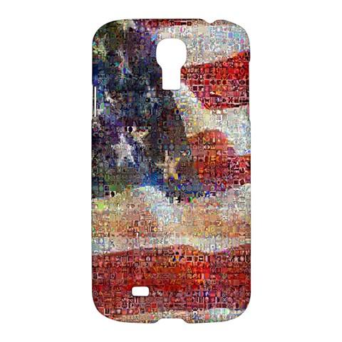 Grunge United State Of Art Flag Samsung Galaxy S4 I9500/I9505 Hardshell Case