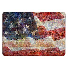 Grunge United State Of Art Flag Samsung Galaxy Tab 8.9  P7300 Flip Case