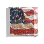 Grunge United State Of Art Flag 4 x 4  Acrylic Photo Blocks Front