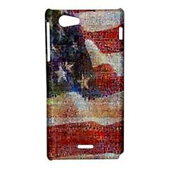 Grunge United State Of Art Flag Sony Xperia J