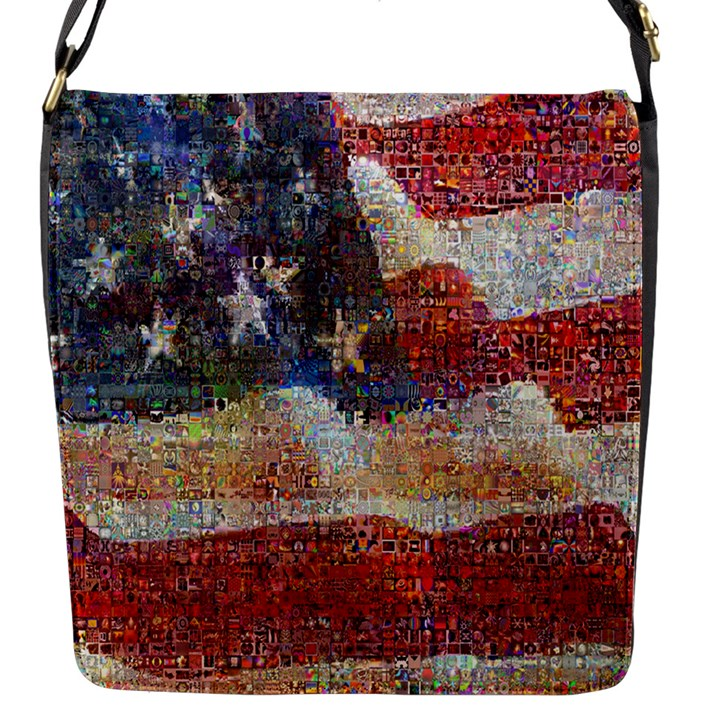 Grunge United State Of Art Flag Flap Messenger Bag (S)