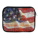 Grunge United State Of Art Flag Apple iPad 2/3/4 Zipper Cases Front