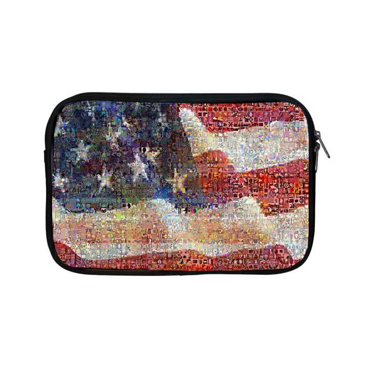 Grunge United State Of Art Flag Apple iPad Mini Zipper Cases