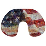 Grunge United State Of Art Flag Travel Neck Pillows Back