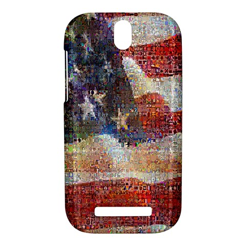 Grunge United State Of Art Flag HTC One SV Hardshell Case